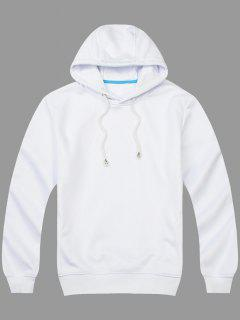 Pullover Side Pockets Hoodie - White M