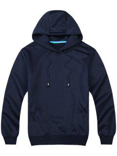 Pullover Side Pockets Hoodie - Cadetblue M