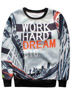 House Graphic Crew Neck Sweatshirt - M