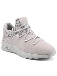Mesh Breathable Criss Cross Athletic Shoes - Gray 44