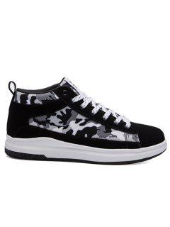 Color Block Print Letter Skate Shoes - Dark Grey 40