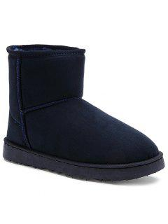 Suede Badge Snow Boots - Blue 39