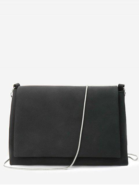 Solider Kettenflap Crossbody Bag - Schwarz  Mobile