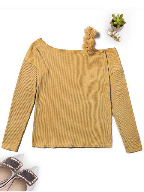 outfit Off The Shoulder Ribbed Knitwear - GINGER XL Mobile