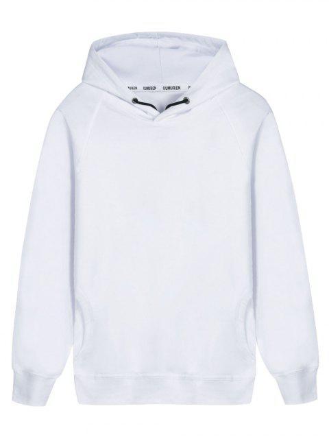 fancy Pullover Raglan Sleeve Hoodie - WHITE XL Mobile