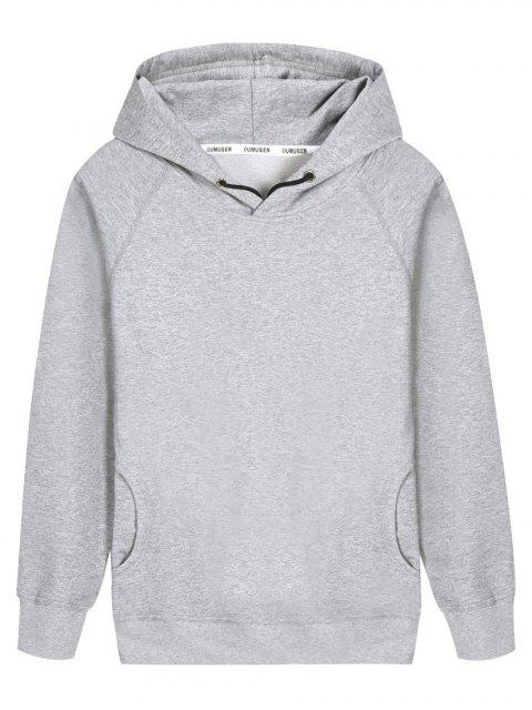 Sweat à Capuche à Manches Raglan - Gris L Mobile