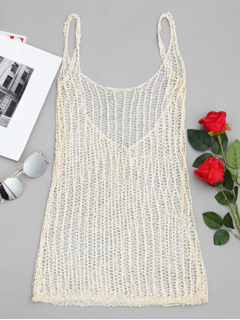 latest Sequined Fishnet Cover Up Dress - GOLDEN M Mobile