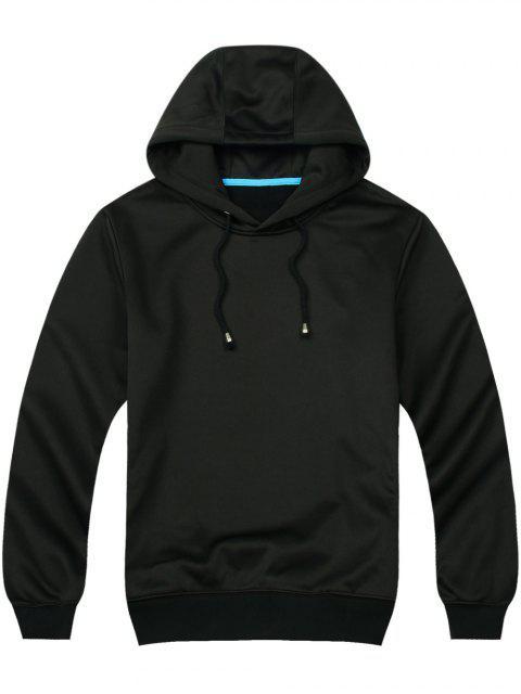 ladies Pullover Side Pockets Hoodie - BLACK L Mobile