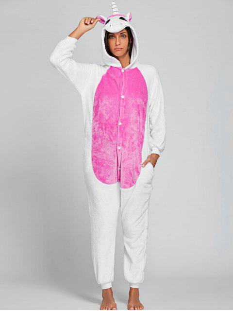 Pyjama Body Unicorne Animal pour Adulte - ROSE PÂLE L Mobile