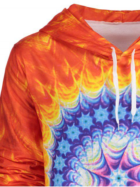 outfits Tie Dye Printed Trippy Hoodie - JACINTH L Mobile