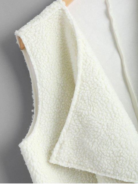 Chaleco de efecto cascada con frente abierto - Blanco Talla única Mobile