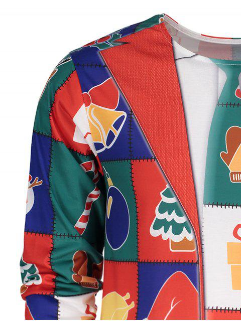Crew Neck Long Sleeve Christmas T-shirt - Colormix XL Mobile