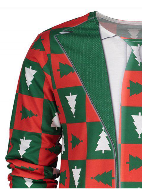 Camiseta cuello redondo de manga larga navideña - Verde L Mobile