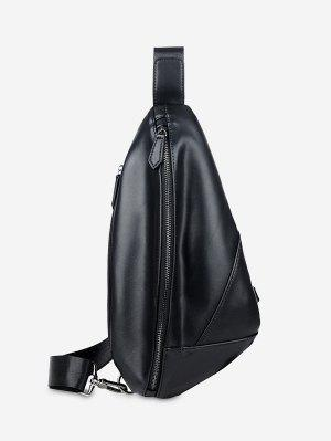 PU Leather Geometric Chest Bag