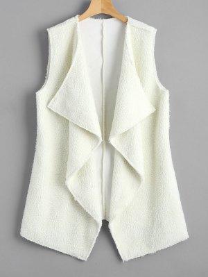 Open Front Textured Waterfall Waistcoat