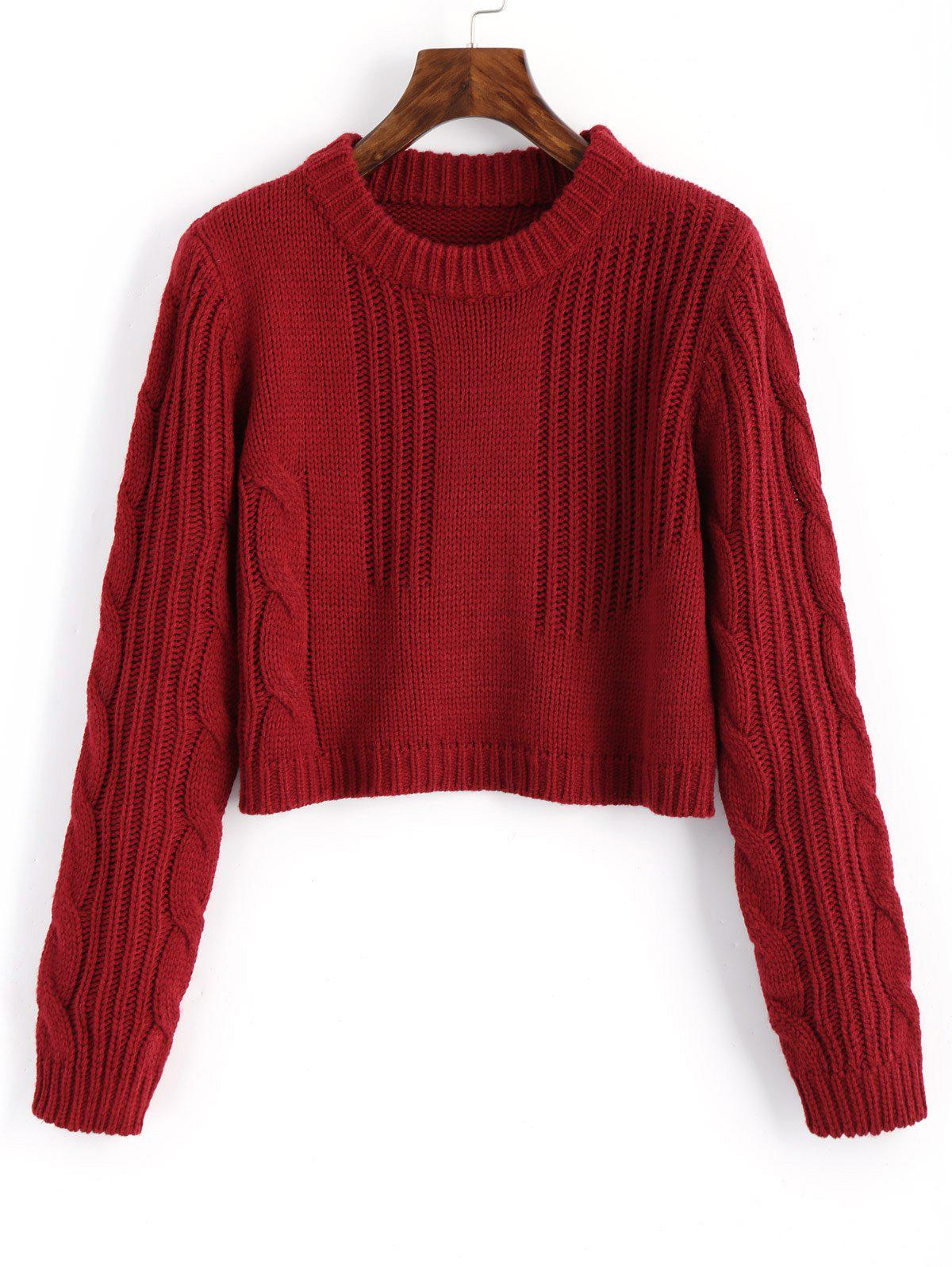 Cable Knit Panel Pullo
