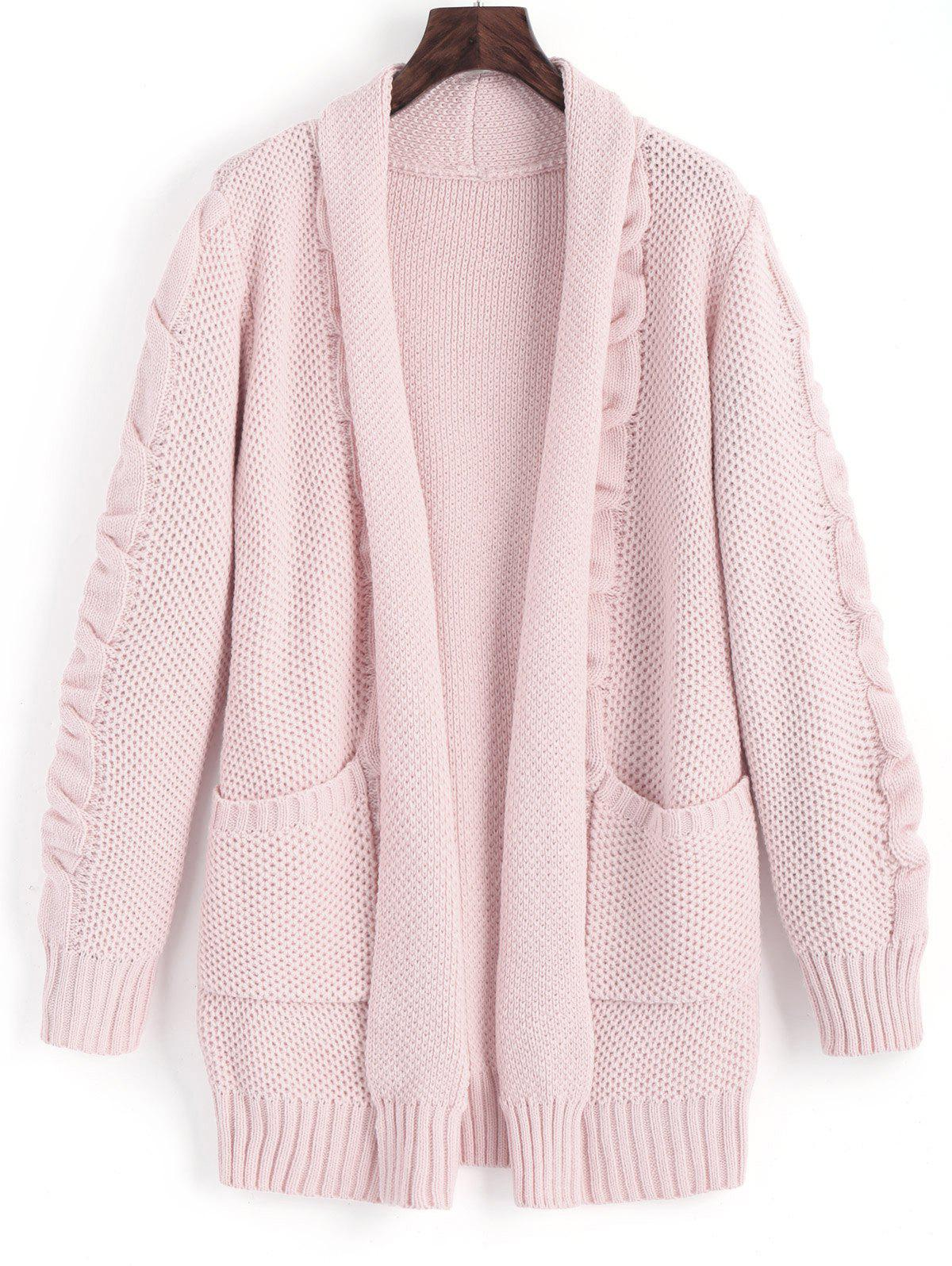 Collo A Scialle Cable Knit Cardigan