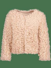 Fuzzy Jacket PINK: Jackets & Coats ONE SIZE | ZAFUL