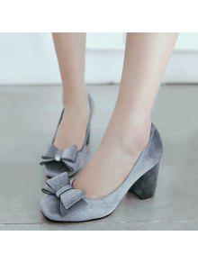 dd2601a5e16 31% OFF  2019 Bow Mid Heel Pumps In SMOKY GRAY