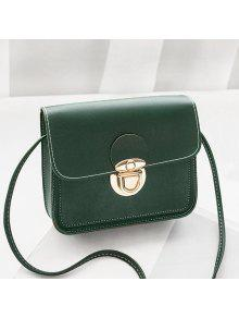 خياطة حقيبة كروسبودي الصلبة - أخضر أفقي