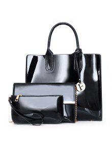 حقيبة كتف لون بني للنساء - أسود