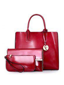 حقيبة كتف لون بني للنساء - أحمر
