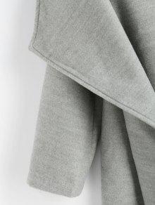 klassische Schuhe sehr bequem Bestbewertete Mode Wollmischung Schal Kragen Wasserfall Mantel