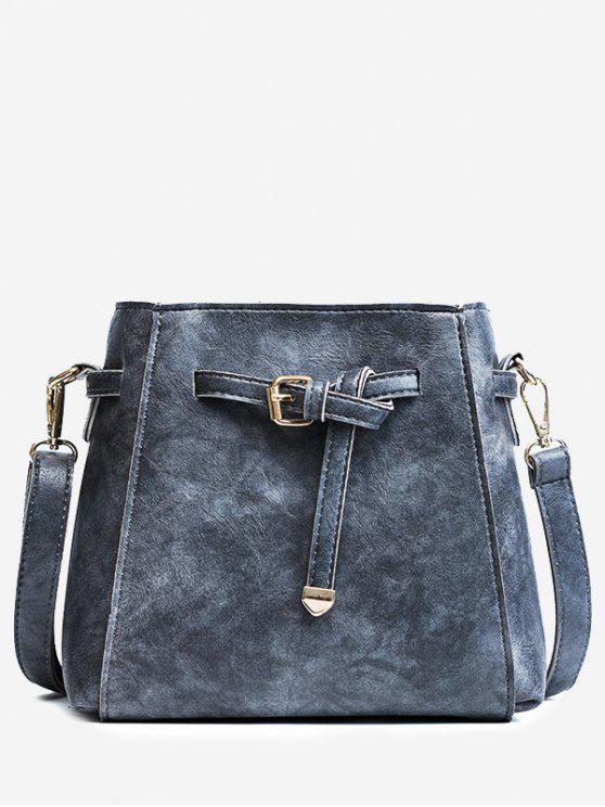 unique Belt PU Leather Crossbody Bag - GRAY