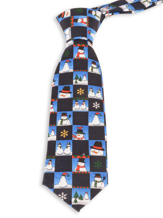 online Christmas Snowman Pattern Novelty Christmas Necktie - ROYAL