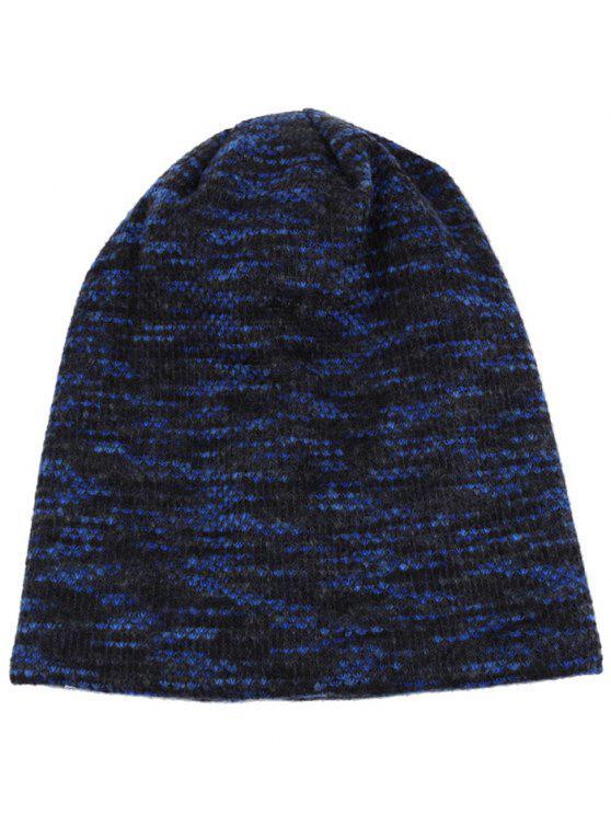 Beanie leggero lavorato a maglia all'uncinetto con motivo Colormix - Ceruleo