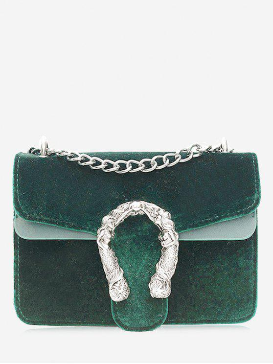 sale Metal Chain Crossbody Bag - GREEN