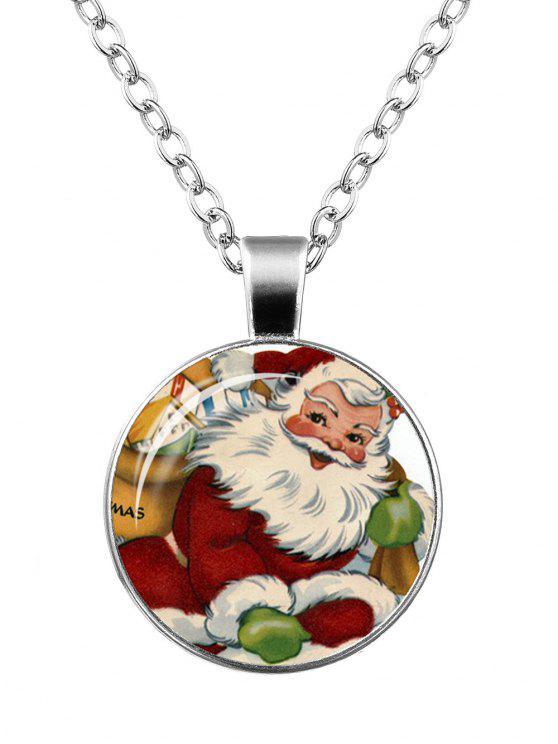 Natale Babbo Natale Stampa Rotonda Collana - Modello A
