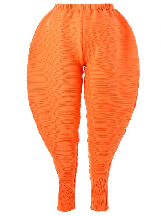 c636af5164719 Thanksgiving Pleated Plus Size Chicken Drumsticks Pants - Orange 3xl