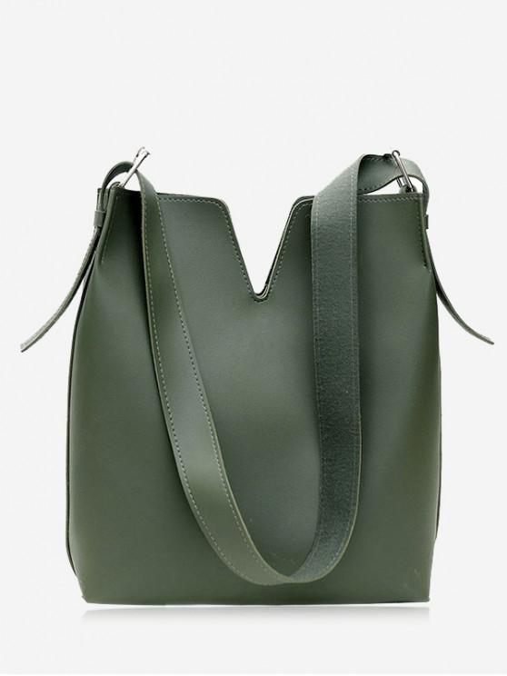 latest Curve 2 Pieces Shoulder Bag Set - GREEN