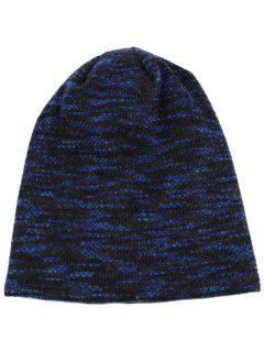 Colormix Pattern Crochet Knitted Lightweight Beanie - Cerulean