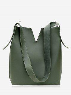 Curve 2 Pieces Shoulder Bag Set - Green