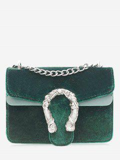 Metal Chain Crossbody Bag - Green