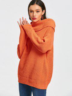 Pullover - Übergroßer Überlapp-Pullover - Orange Gelb