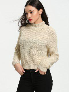 Turtleneck Chunky Sweater - Apricot M
