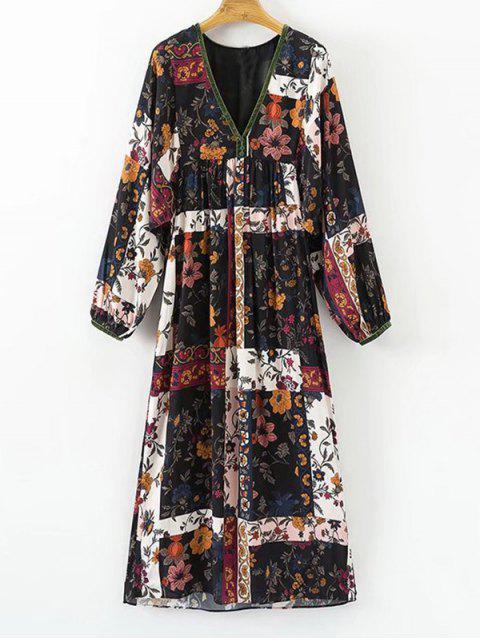 Empire-Kleid mit Blumenmuster - Blumen L Mobile