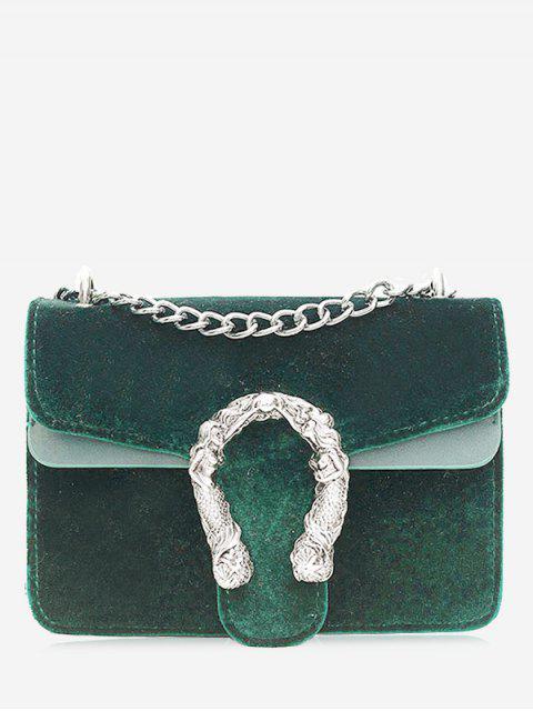Bolso Crossbody de cadena de metal - Verde  Mobile