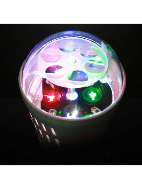 latest Christmas Tree Snowman Baubles Pattern Party Decor Projector Light Bulb - WHITE EU Mobile