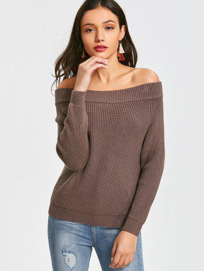 Zaful Pullover Off Shoulder Sweater