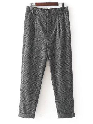 Ninth Checked Tapered Pants
