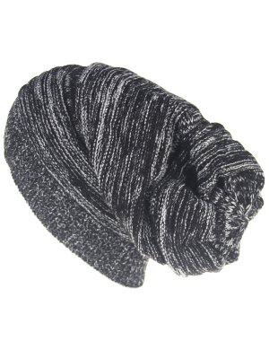 Colormix Striped Pattern Thicken Knitted Slouchy Beanie