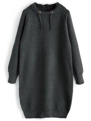 Vestido de suéter con capucha