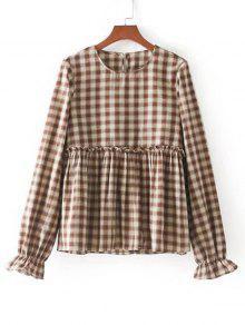 Blusas De Punho De Punho Elástico Blusa De Ruffles - Verificado S