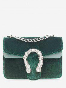 سلسلة معدنية حقيبة كروسبودي - أخضر
