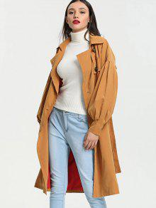 Breasted Manga Linterna Jengibre S Trench Doble Coat EfqqHp