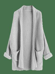 ... Curled Sleeve Batwing Open Front Cardigan ...